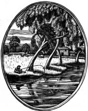 wood-engraving print: Summer for Siegfried Sassoon's The Old Century